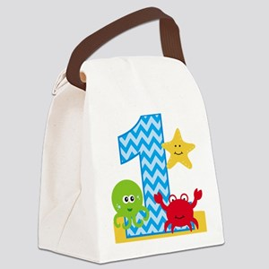Under the Sea 1st Birthday Canvas Lunch Bag