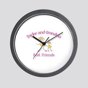 Taylor & Grandma - Best Frien Wall Clock