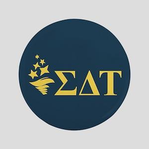 Sigma Delta Tau Greek Letters Button