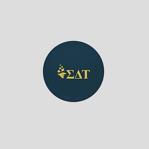 Sigma Delta Tau Greek Letters Mini Button