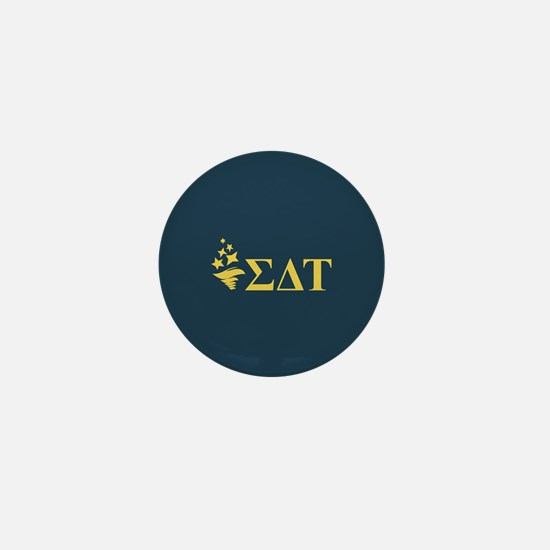 Sigma Delta Tau Greek Letters Mini Button