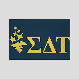 Sigma Delta Tau Greek Letters Rectangle Magnet
