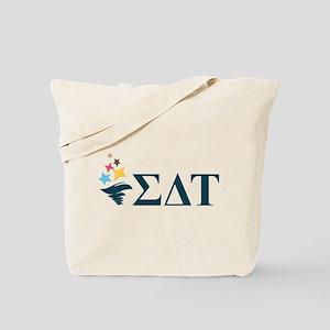 Sigma Delta Tau Greek Letters Tote Bag