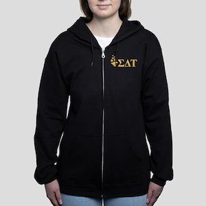 Sigma Delta Tau Greek Letters Women's Zip Hoodie