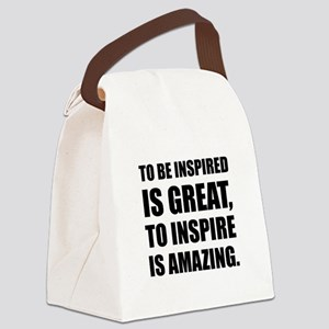 Inspire Is Amazing Canvas Lunch Bag