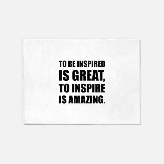 Inspire Is Amazing 5'x7'Area Rug