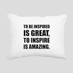 Inspire Is Amazing Rectangular Canvas Pillow