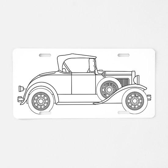 Unique Old car Aluminum License Plate