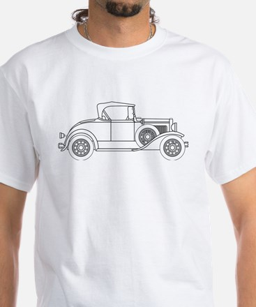 Early Motor Car Outline T-Shirt