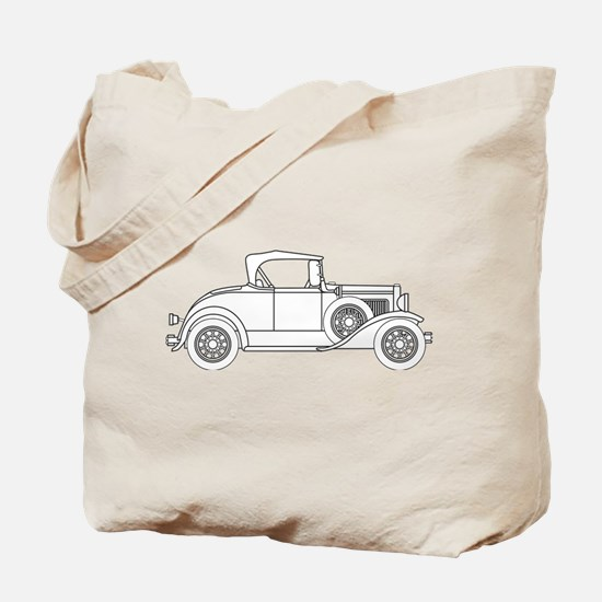 Early Motor Car Outline Tote Bag