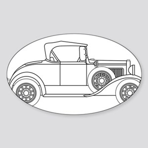 Early Motor Car Outline Sticker