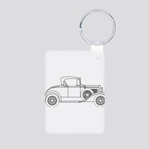 Early Motor Car Outline Keychains