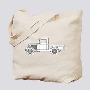 Early Pickup Truck Outline Tote Bag