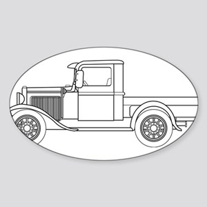 Early Pickup Truck Outline Sticker