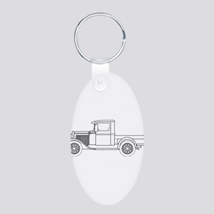 Early Pickup Truck Outline Keychains