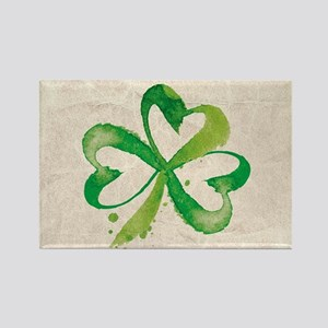 Shamrock Brushstrokes Magnets