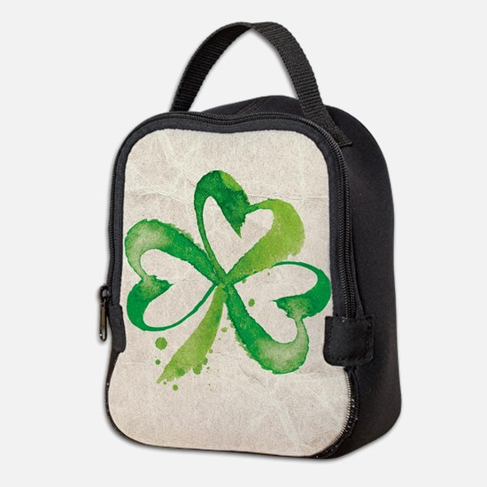 Shamrock Brushstrokes Neoprene Lunch Bag