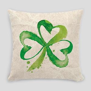 Shamrock Brushstrokes Everyday Pillow