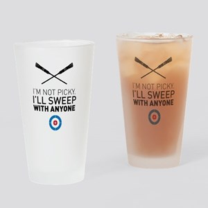 I'll sweep with anyone Drinking Glass