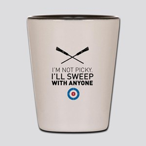 I'll sweep with anyone Shot Glass