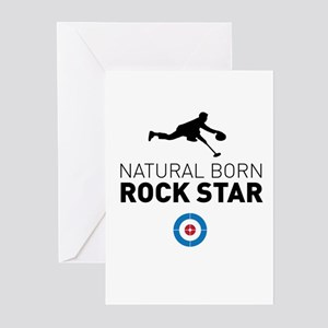 Natural born rock star Greeting Cards