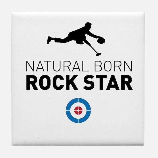 Natural born rock star Tile Coaster