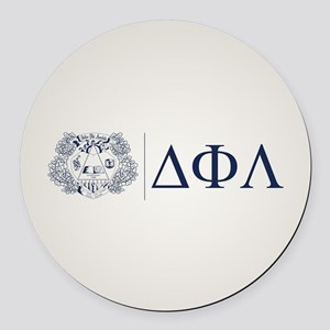 Delta Phi Lambda Crest Letters Round Car Magnet