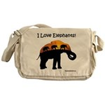 I Love Elephants Messenger Bag