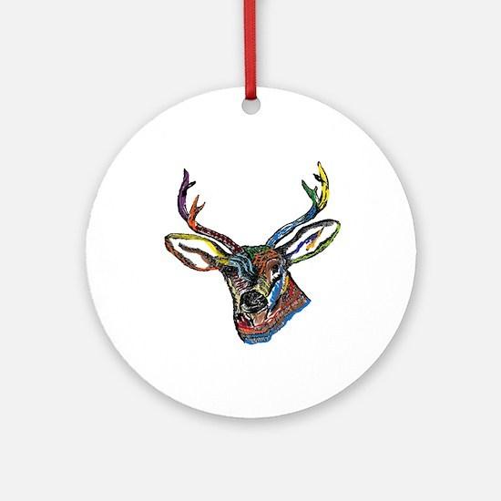 BUCK Round Ornament