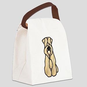 Sitting Wheaten Terrier Canvas Lunch Bag