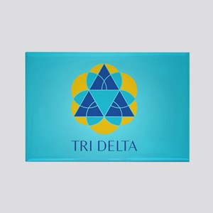 Delta Delta Delta Logo Rectangle Magnet