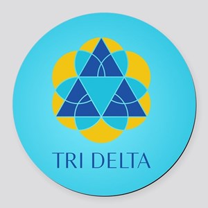 Delta Delta Delta Logo Round Car Magnet