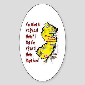 NJ-Motto! Oval Sticker