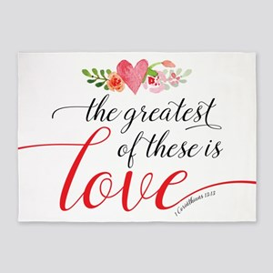 Greatest Love 5'x7'Area Rug