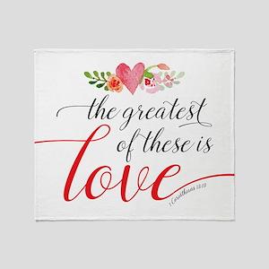 Greatest Love Throw Blanket