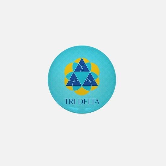 Delta Delta Delta Pattern Mini Button