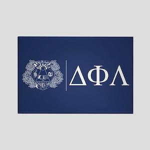 Delta Phi Lambda Crest Letters Rectangle Magnet