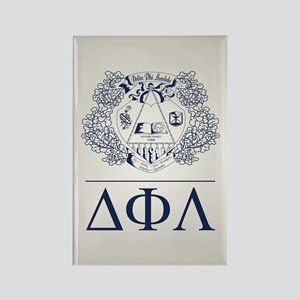 Delta Phi Lambda Crest Letters Rectangle Magnet