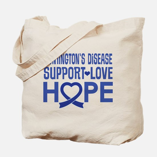Huntington's Disease Support Ribbon Tote Bag