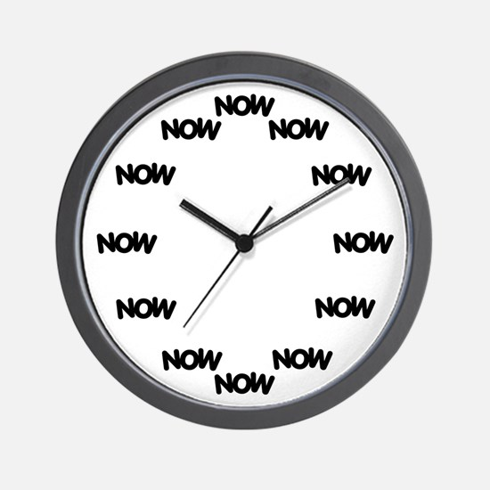 Cute Now now Wall Clock