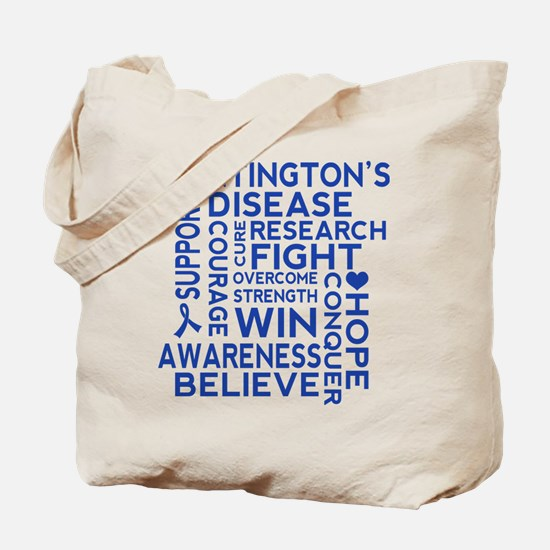 Huntingtons Disease Awareness Quote Tote Bag