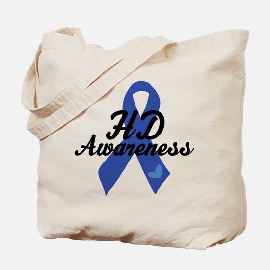 H D Huntingtons Awareness Tote Bag
