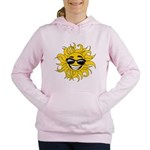 Smiley Face Sun Women's Hooded Sweatshirt