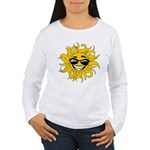 Smiley Face Sun Women's Long Sleeve T-Shirt