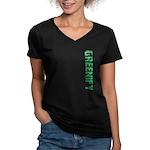 Greenify Women's V-Neck Dark T-Shirt