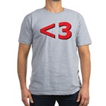 Less than 3 Men's Fitted T-Shirt (dark)