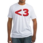 Less than 3 Fitted T-Shirt