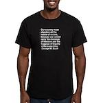 George W. Bush Quote Men's Fitted T-Shirt (dark)
