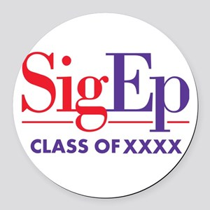 SigEp Class of XXXX Personalized Round Car Magnet
