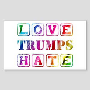 LOVE TRUMPS HATE Sticker (Rectangle)